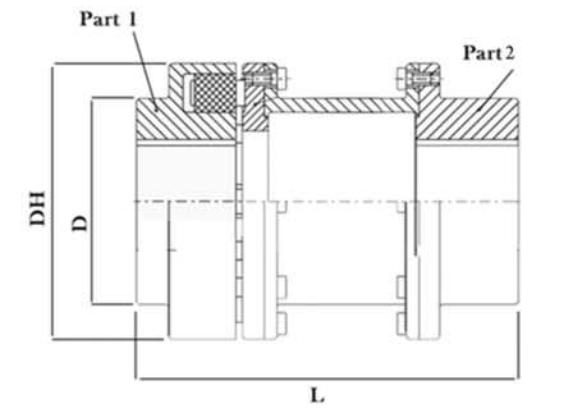 کوپلینگ N_EUPEX H - کوپلینگ KB اسپیسر دار - توان گستر آرمانی